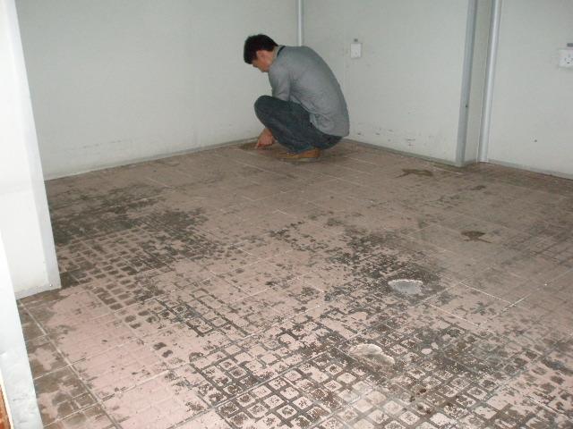 防静电地板施工现场 hwd