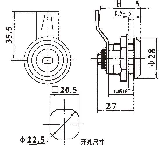 机械门锁-海坦柜锁ms805-1圆柱锁-机械门锁尽在-陈