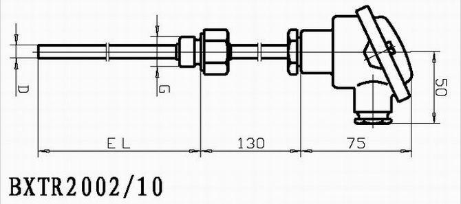 固定螺纹安装热电阻温度传感器/变送器