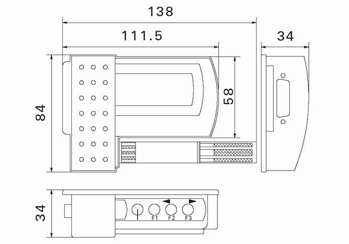 Agent-D-TH-EX防爆温湿度记录仪外形尺寸图