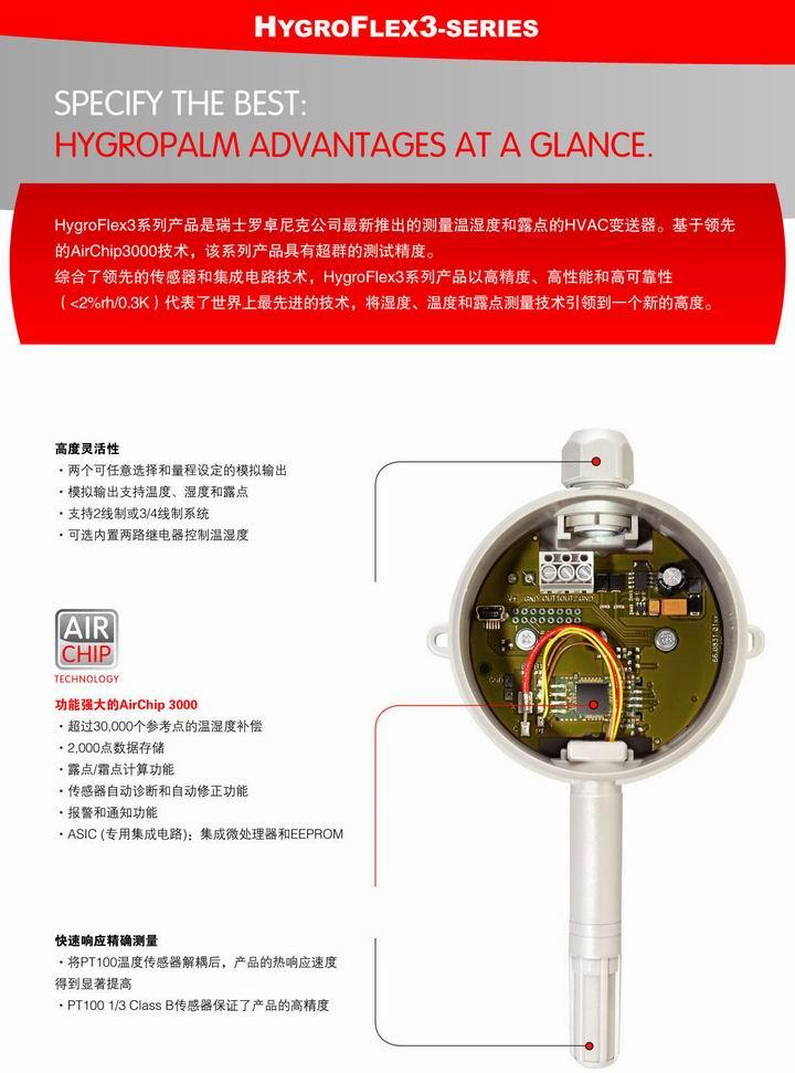 HF3 墙挂式和管道式温湿度变送器