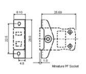 IM-SSPF系列热电偶插座 IEC标准面板式热电偶插座 尺寸图