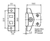 IM-SSPFQ系列热电偶插座|IEC标准面板式热电偶插座 尺寸图