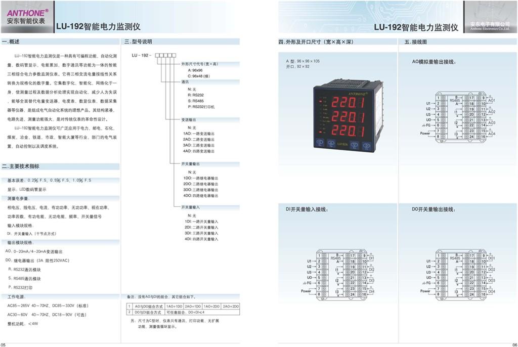 LU-192智能电力监测仪