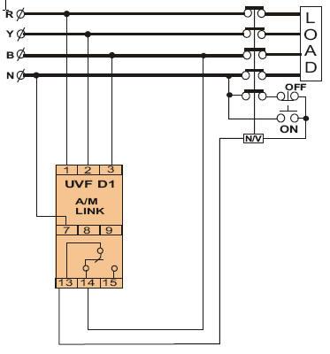 三相四线欠压继电器