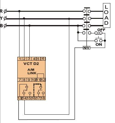 三相三线欠/过电压继电器