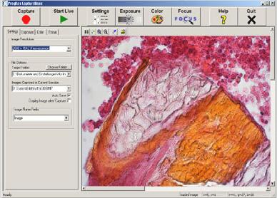ProgRes Capture software