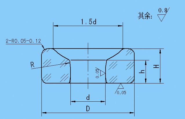 单油槽弧孔宝石轴承