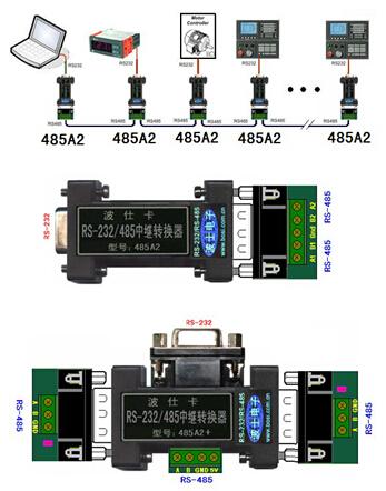485a2应用的rs485多机通信的典型接线图以及-rs232转485接线