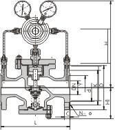 周口市阀门厂|先导活塞式气体减压阀