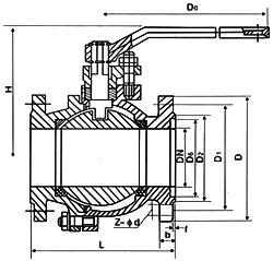 美标金属硬密封球阀Q41F/H-150LB
