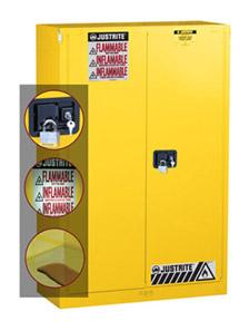 JUSTRITE立式易燃品安全储存柜/安全柜/防火柜/防爆柜(45加仑,黄色)