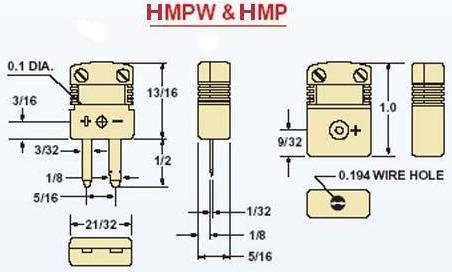 HMPW系列热电偶线插头|热电偶线插头|美国omega热电偶线插头 尺寸