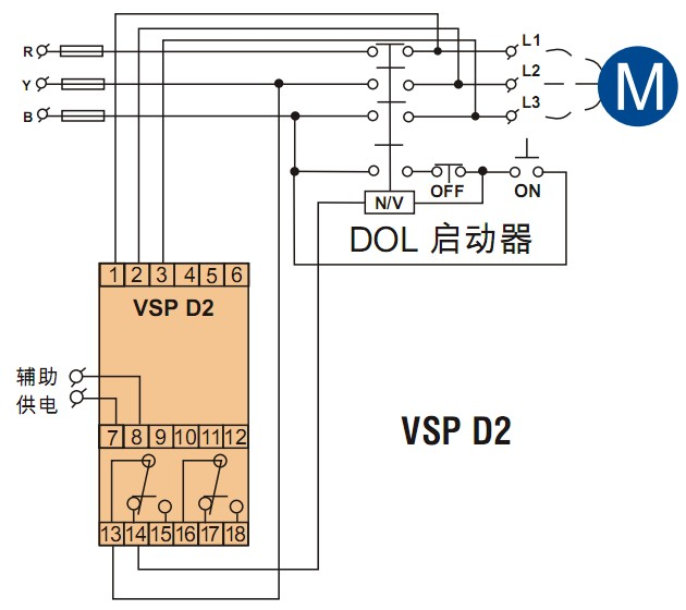 相故障保护继电器接线图
