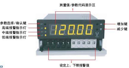 P4-DA直流电流表|数字式直流电流表|四位半数显直流电流表 接线图-图片
