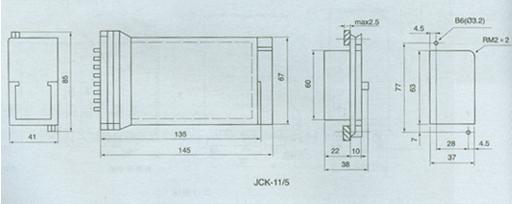 额定电压:AC220V、110V、48V、24V、12V。  接点形式:6动合;3动合1动断2转换。  动作值:继电器的动作值为额定电压的30-70%。  返回值:不小于额定电压的5%。  动作时间:不大于45ms。  返回时间:不大于45ms.  功率消耗:不大于5W。 触点容量:在电压不超过250V,电流不超过5A,时间常数为50.