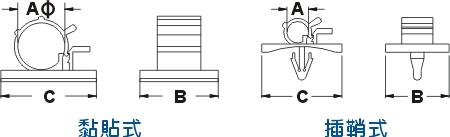 二段式配线固定座 CABLE CLAMP