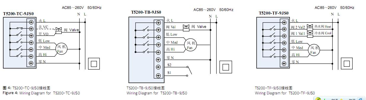空调内风机接线图图片大全 风机盘管温控器 中央空调温
