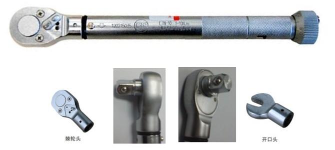 """扭矩扳手(torque wrench)也叫扭力扳手或力矩扳手,在紧固螺丝螺栓螺母等螺纹紧固件时需要控制施加的力矩大小,以保证螺纹紧固且不至于因力矩过大破坏螺纹,所以用扭矩扳手来操作。首先设定好一个需要的扭矩值上限,当施加的扭矩达到设定值时,扳手会发出""""卡塔""""声响或者扳手连接处折弯一点角度,这就代表已经紧固不要再加力了。"""