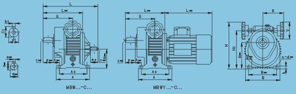 MB組合系列行星錐盤無級變速機