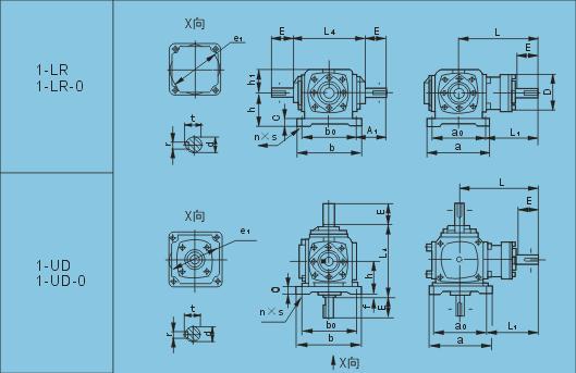 T系列螺旋锥伞齿轮转向箱