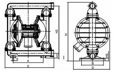 气动隔膜泵结构图图片