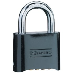 Master Lock 178D Set-Your-Own Combination Padlock, Die-Cast, Black