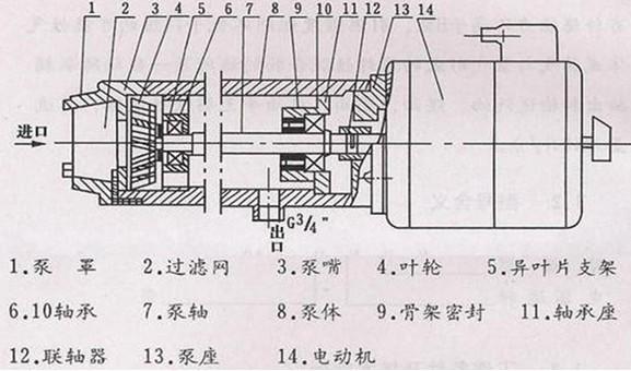 电动泵结构示意图