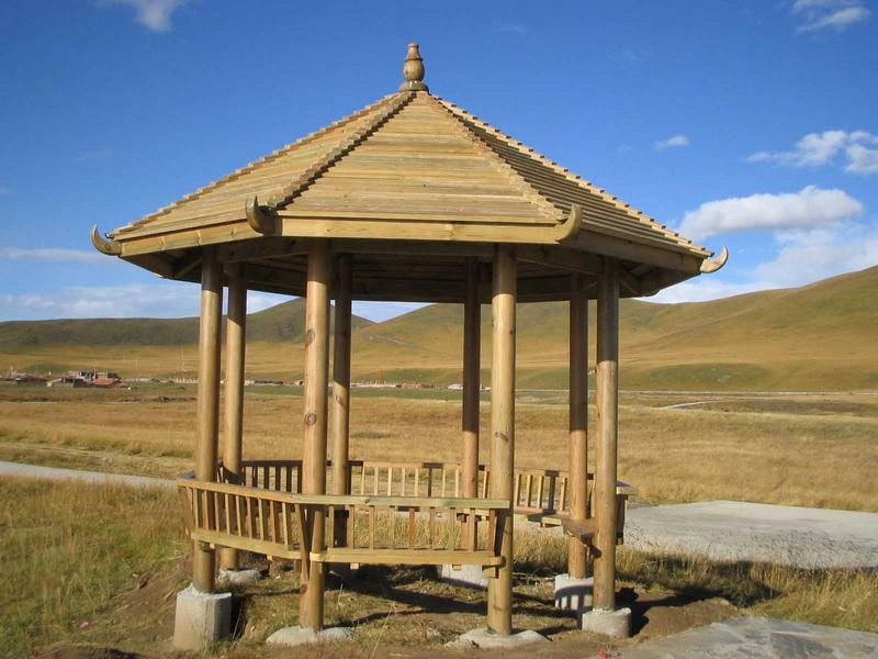 木制八角亭