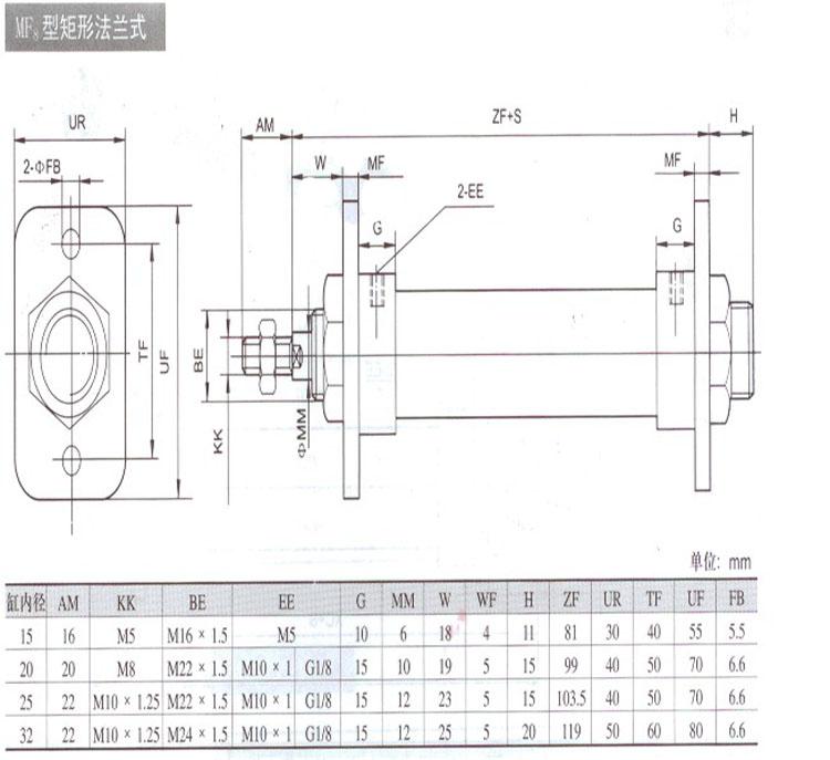 qgx16*50气缸图片
