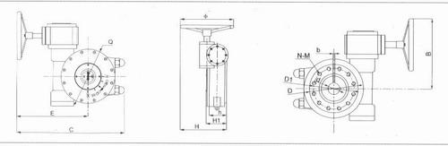 双极蜗轮箱