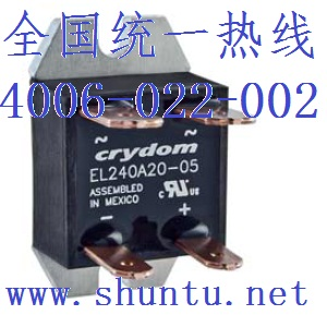 直流固态继电器EL100D10-24面板安装固态继电器SSR