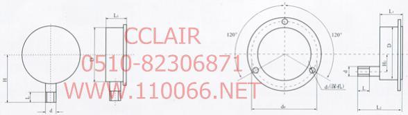 特種、耐震、不銹鋼壓力表 YN-60    YN-100 YN-150    YN-60Z