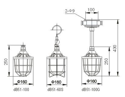 隔爆型防爆灯(ⅡB) dB51-S    dB51-G