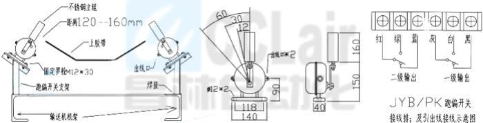 跑偏开关  KPT1A-20-35  KPT1A-10-45  KPT1A-12-30