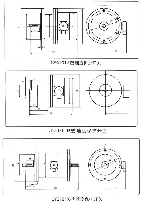 超速开关  LY1-1/(600/750/1000)   LY1-1/(600/750/1000)D