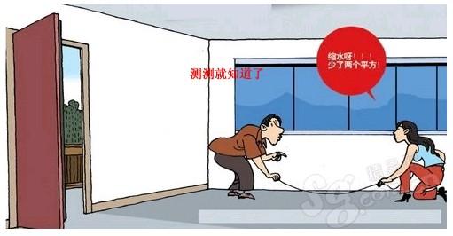 传统的房屋面积测量方式