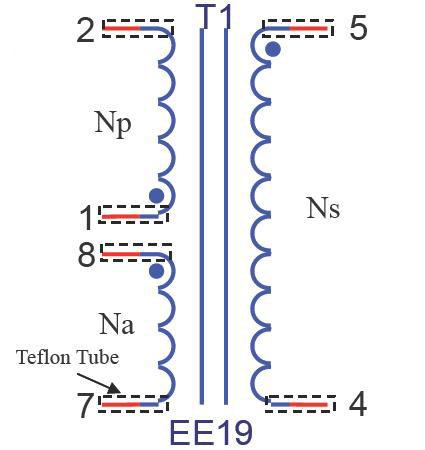 高频变压器结构图