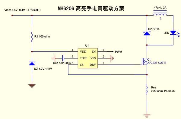 LED手电筒方案
