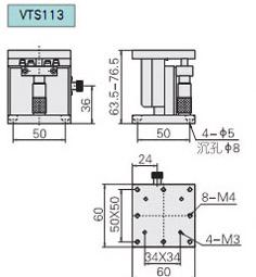 VTS113型手動升降臺