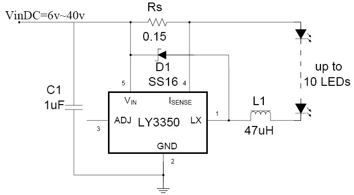 LY3350完全兼容ZXLD1350,ZXLD1360,PT4115
