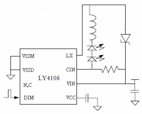 5.5V~36V输入800MA输出高亮度LED 驱动器LY4108