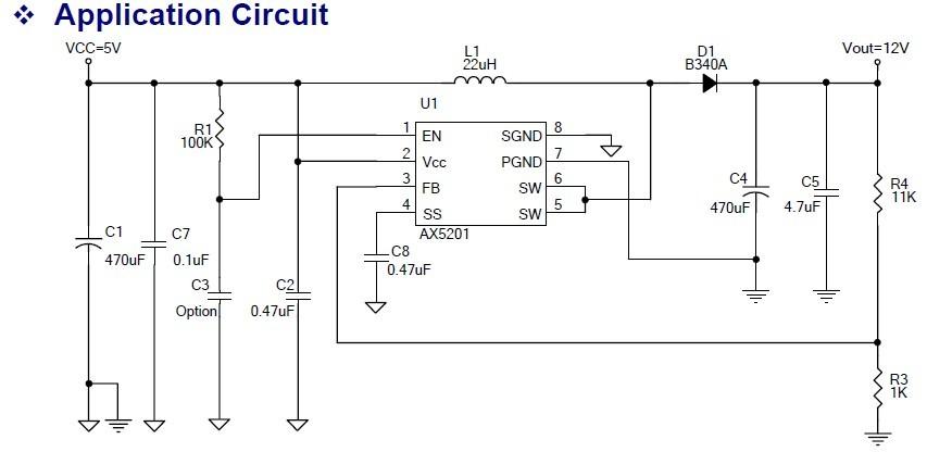 輸入3V~20V大功率2A升壓恒流LED驅動AX5201