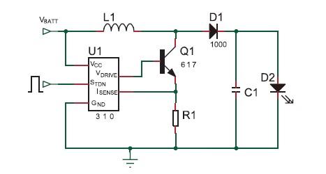 ZXSC310是0.8~8V输入、升压3W的LED驱动