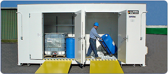 Storage Systems for flammables, chemicals, solvents and hazardous materials