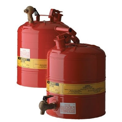 Justrite 10XXX - Red Steel Safety Cans for Laboratories