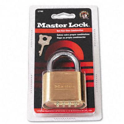 Master Lock Lock #175D 2 Comb Padlock