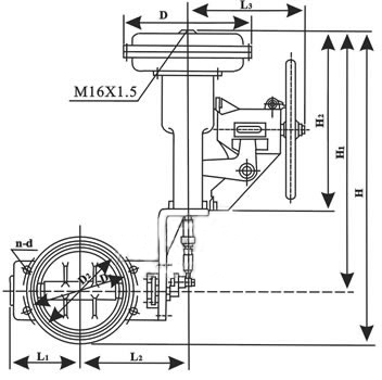 ZmAW-10型氣動調節蝶閥