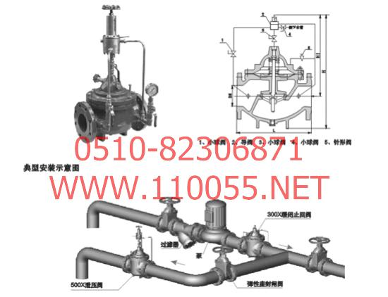 500X-DN300  500X-DN350   500X-DN400    500X-DN450    泄压阀