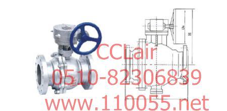 Q341F   蜗轮传动球阀